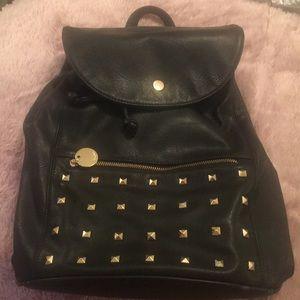 Black leather like back pack